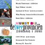 flyer verkoopexpositie Kunstbijdetweeprovincien zondag 1 juni 2014